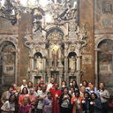 Fr. Amar celebrating Mass at the Cathedral of the Apostle James in Spain.